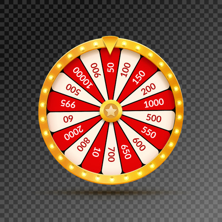 bankrupt: Wheel Of Fortune lottery luck illustration. Casino game of chance. Win fortune roulette. Gamble chance leisure. Illustration
