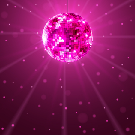 Disco party background. Music dance vector design for advertise. Disco ball flyer or poster design promo. Illustration