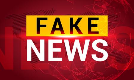 Fake news banner background. Breaking fake news for TV data. Digital design concept.