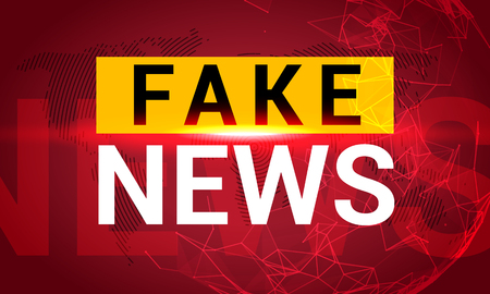 Fake news banner background. Breaking fake news for TV data. Digital design concept.
