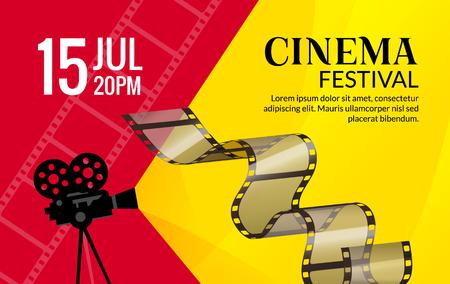 film industry: Cinema festival poster template. Illustration