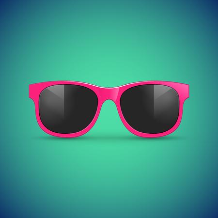 分離ベクトル サングラス。夏の眼鏡流行に敏感なファッション アクセサリー イラスト。  イラスト・ベクター素材