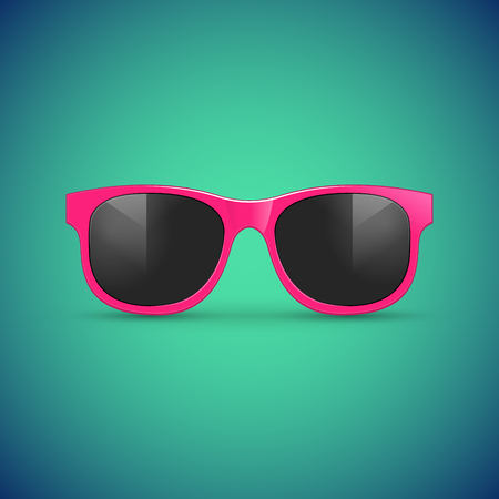 An isolated Vector sunglasses. Eyeglasses hipster fashion accessory illustration for summer.