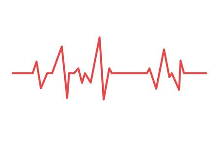 Heart line. Vector cardiogram health medical heartbeat pulse. 일러스트