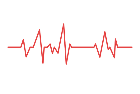 Heart line. Vector cardiogram health medical heartbeat pulse. Vettoriali