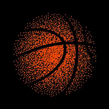 Basketball vector technology background game. Basket dots ball element activity.