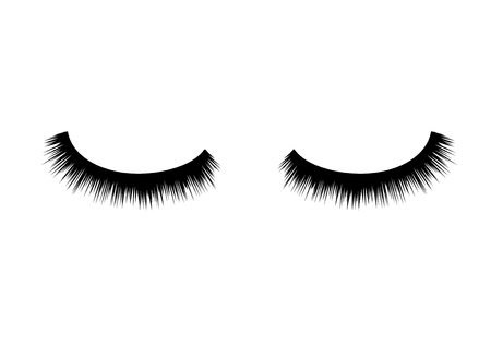 Eyelashes vector beauty makeup. Long eye fashion. Female eyelashes glamour.