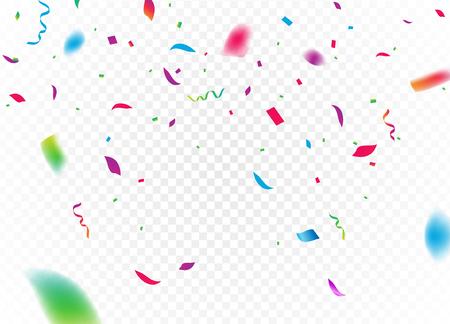 색종이 배경 벡터 절연. 떨어지는 색종이 생일 파티 장식.