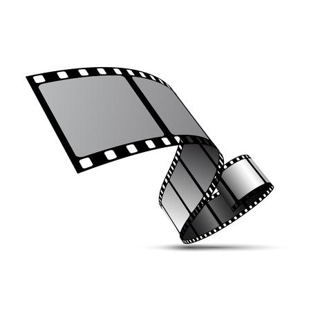 Carretel de tira de filme Ilustración de vector