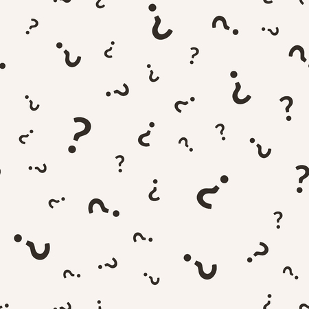 Question mark seamless pattern. Vector seamless pattern with question sign punctuation.  イラスト・ベクター素材