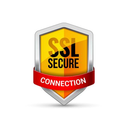 SSL-Schutzschild-Schutzsymbol. Sicherheits-SSL schützen Zeichensymbol.
