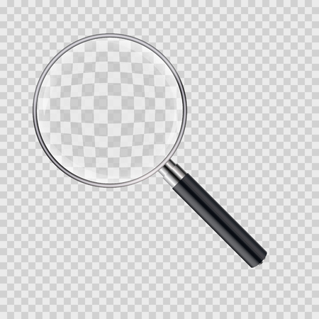 Magnifying glass vector illustration. Magnify zoom tool icon. Business instrument optical sign isolated.