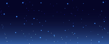 Night stars sky background illustration. Galaxy dark night starry sky wallpaper. Ilustração