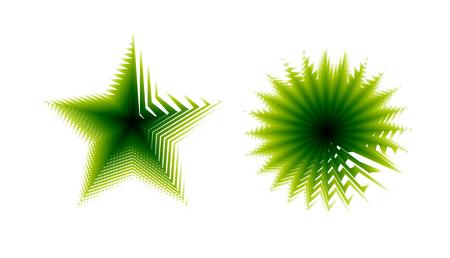 Abstract green logo creative modern design. Colorful vector template. Illustration