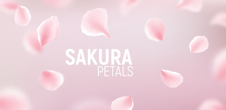 Pink sakura petals falling flower vector background romantic pink sakura petals falling flower vector background romantic blossom sakura flower petals stock vector mightylinksfo
