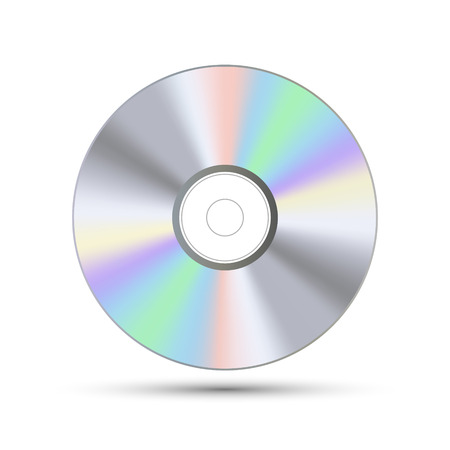 DVD or CD disc. Blue-ray technology vector illustration. Music sound data information.