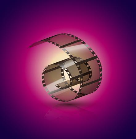 Film strip roll. Cinema tape design. Filmstrip movie entertainment. Cinematography frame.