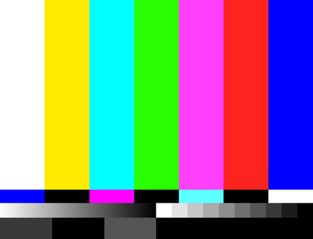 TV no signal background illustration. No signal television screen graphic broadcast design.