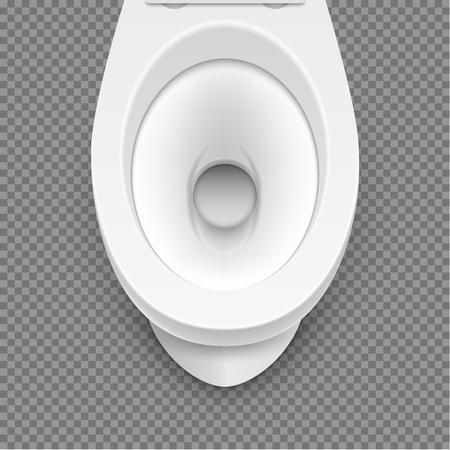 Toilet white mockup illustration isolated. Toilet in clean bathroom. Vector home hygiene. Stock Illustratie