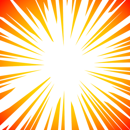 Sun Rays or Explosion Comic Retro vector radial boom. Sun burst frame design.