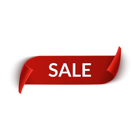 Big Sale vector ribbon design template. Banner sale tag. Market special offer discount label. Illustration