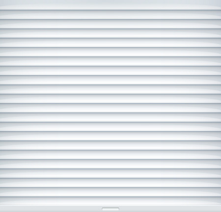 Rolling shutter metal gate vector door. Entrance roller warehouse door background.