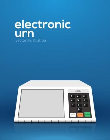 Computer elettronico di voto dell'urna. Progettazione dell'urna di voto elettronico di elezioni del presidente del Brasile di vettore.