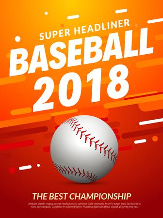 Baseball flyer poster template tournament invitation. Baseball background advertising design banner.