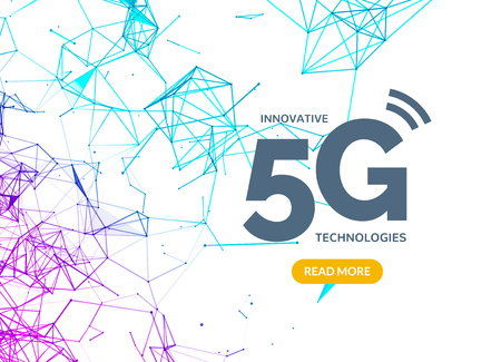 5G vector wifi wireless technology connection, mobile transmission speed. Digital data 5g connection.