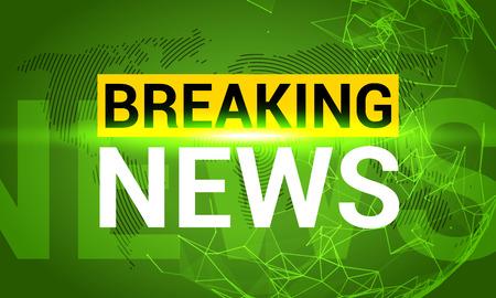 Breaking news. World news with map backgorund. Breaking news modern concept. TV news design.