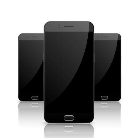 Smartphone, mobile phone isolated. Blank screen mobile vector. Cellphone communication technology. Illustration