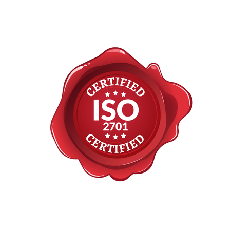 ISO 2701 standard certified. Iso Seal label certificate.