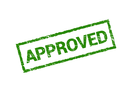 Wektor zatwierdzony znak pieczątka pieczątka. Grunge zatwierdzony na białym tle projekt pieczęci zielony Ilustracje wektorowe