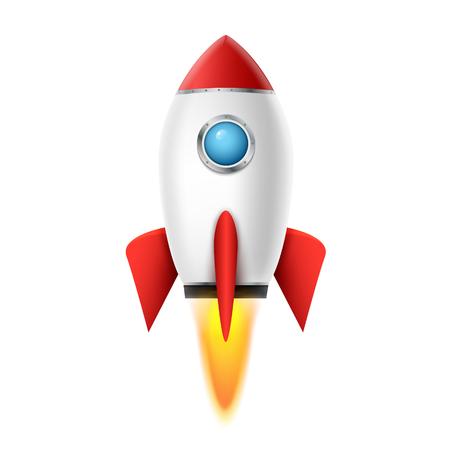 3d rocket space ship launch background. Realistic rocketship spaceship vector design. Shuttle creative icon