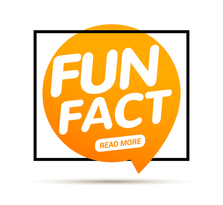 Fun fact typography bubble. Did you know knowledge design text message phrase information Stock Illustratie