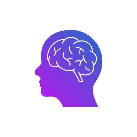 Artificial intelligence logo icon digital face. Artificial software human head brain technology Logo