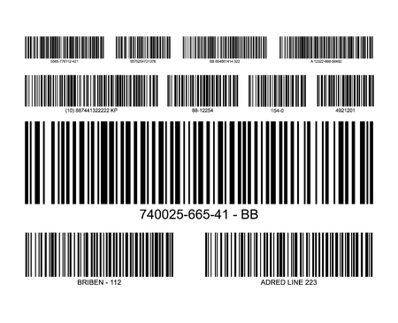 Bar code label price icon. Barcode scanner inventory retail information tag Ilustração