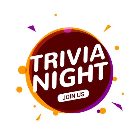 Trivia night icon speech bubble sign. Play brain game fun learn