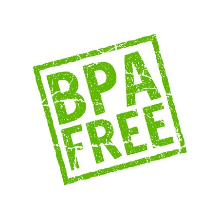 BPA free vector icon. Plastic free stamp toxic chemical bpa element eco safe icon