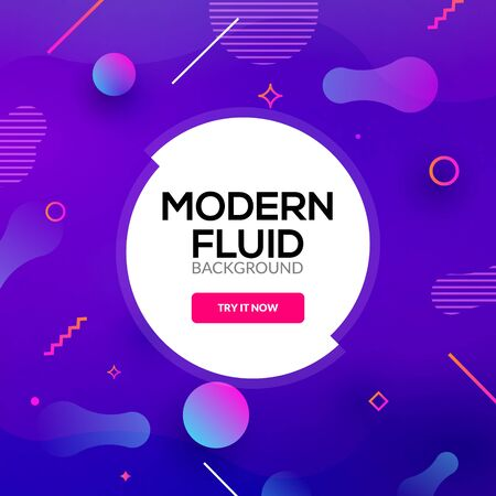 Modern abstract fluid background gradient. Liquid graphic creative design banner poster or flyer template