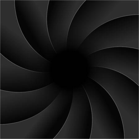 Camera shutter photography background aperture. Focus vector black lens zoom digital design. 向量圖像