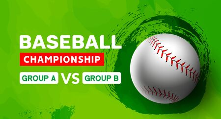 Baseball flyer poster design game tournament. Vector baseball banner sport invitation illustration Banque d'images - 128905393