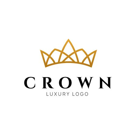 Crown logo king vector royal icon. Queen logotype symbol luxury design
