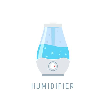 Humidifier air diffuser icon. Purifier microclimate ultrasonic home flat icon, healthy humidity