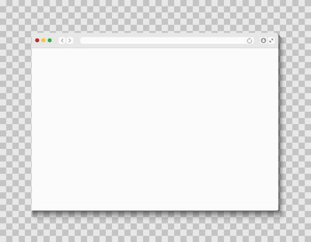 Web browser window. Computer or internet frame template design of flat page mockup. Blank screen web browser  イラスト・ベクター素材