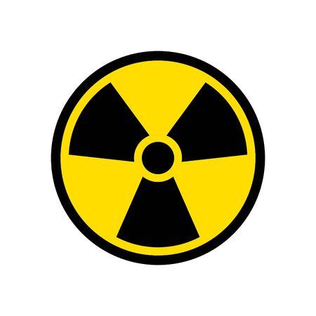 Radioactive icon nuclear symbol. Uranium reactor radiation hazard. Radioactive toxic danger sign design