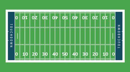 Fondo del campo de fútbol americano. Ilustración de campo de hierba del estadio de rugby Ilustración de vector