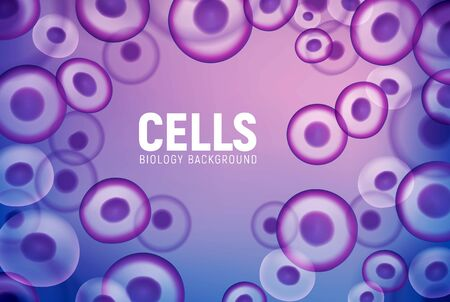 Abstract cell background, human biology science medical nucleus. Vector cell virus stem.