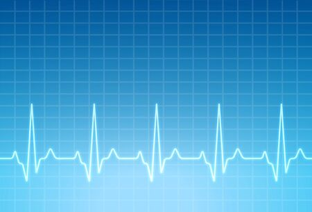 ECG heartbeat monitor, cardiogram heart pulse line wave. Electrocardiogram medical background. Illustration
