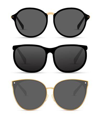 Lunettes de soleil isolées illustration d'été. Lunettes de soleil plage cool lunettes de mode Vecteurs